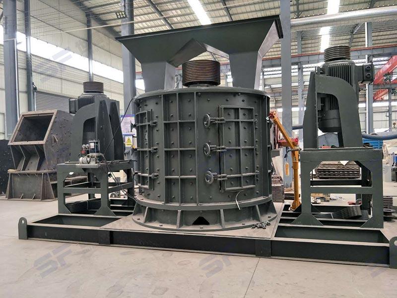 立式复合破碎机和立轴制砂机为基建提供机制砂的紧缺