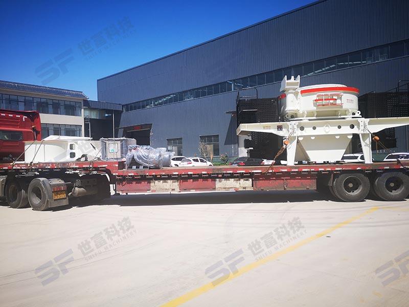 移动式制砂机主机选用冲击式 流动式制砂模式无需场地和环评
