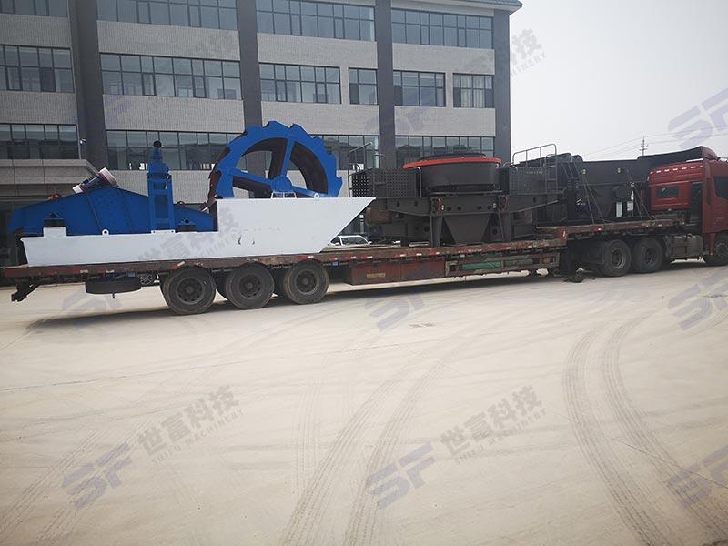 移动式环保粉碎制砂机 出砂率搞 产量稳定 锤头耐用